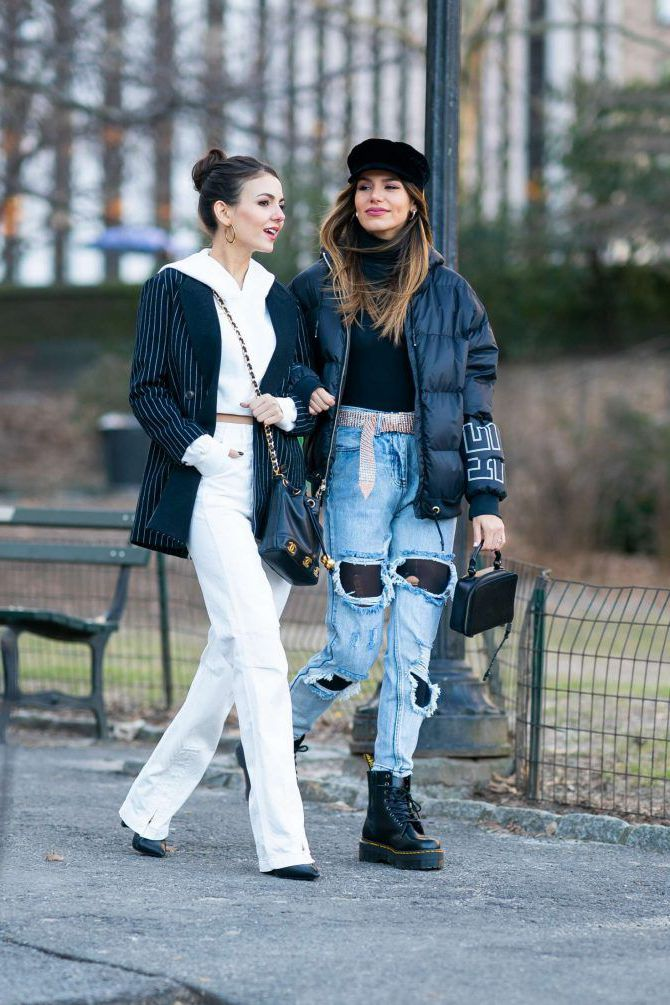 Madison Reed and Victoria Justice - somewhere in New York