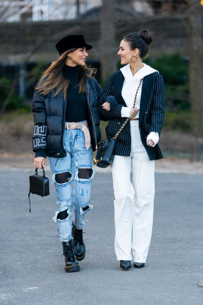 Madison Reed and Victoria Justice - street syle