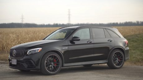 Mercedes-AMG GLC 63 s 2019 - in black colour, side view