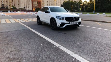 Mercedes-AMG GLC 63 s - in white colour