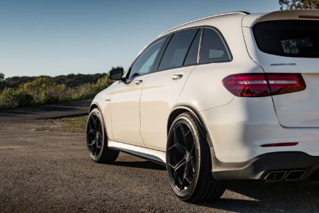 Mercedes-AMG GLC 63 - white SUV on 22 inch wheels