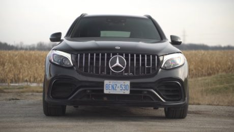 Mercedes-AMG GLC 63s - black SUV in the field