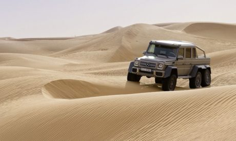 Mercedes-Benz G63 AMG 6x6 (Dune) at Dubai Showcar in 2013