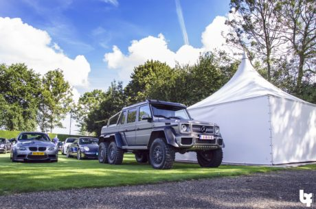 Mercedes-Benz G63 AMG 6x6 and BMW cabrio and Porsche 911