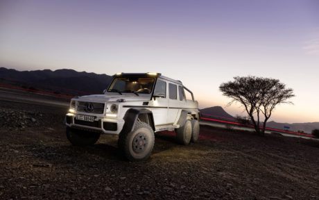 Mercedes-Benz G63 AMG 6x6 at sunset