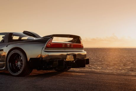 NSX at sunset