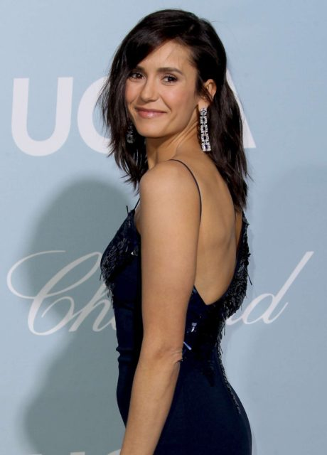 Nina Dobrev with new hairstyle