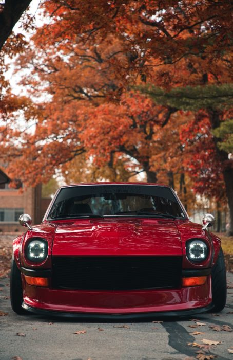 Nissan Datsun 280Z, custom headlights, phone wallpaper