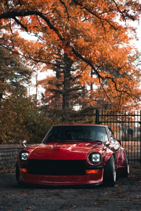 Nissan Datsun 280Z, red, classic car