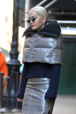 Rita Ora style Fendi Ensemble from the Fall 2018 Collection by Jason Rembert