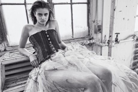 Taylor Hill in black&white for WSJ Magazine