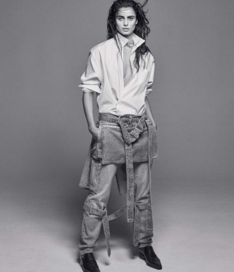 Taylor Hill in full height for WSJ Magazine