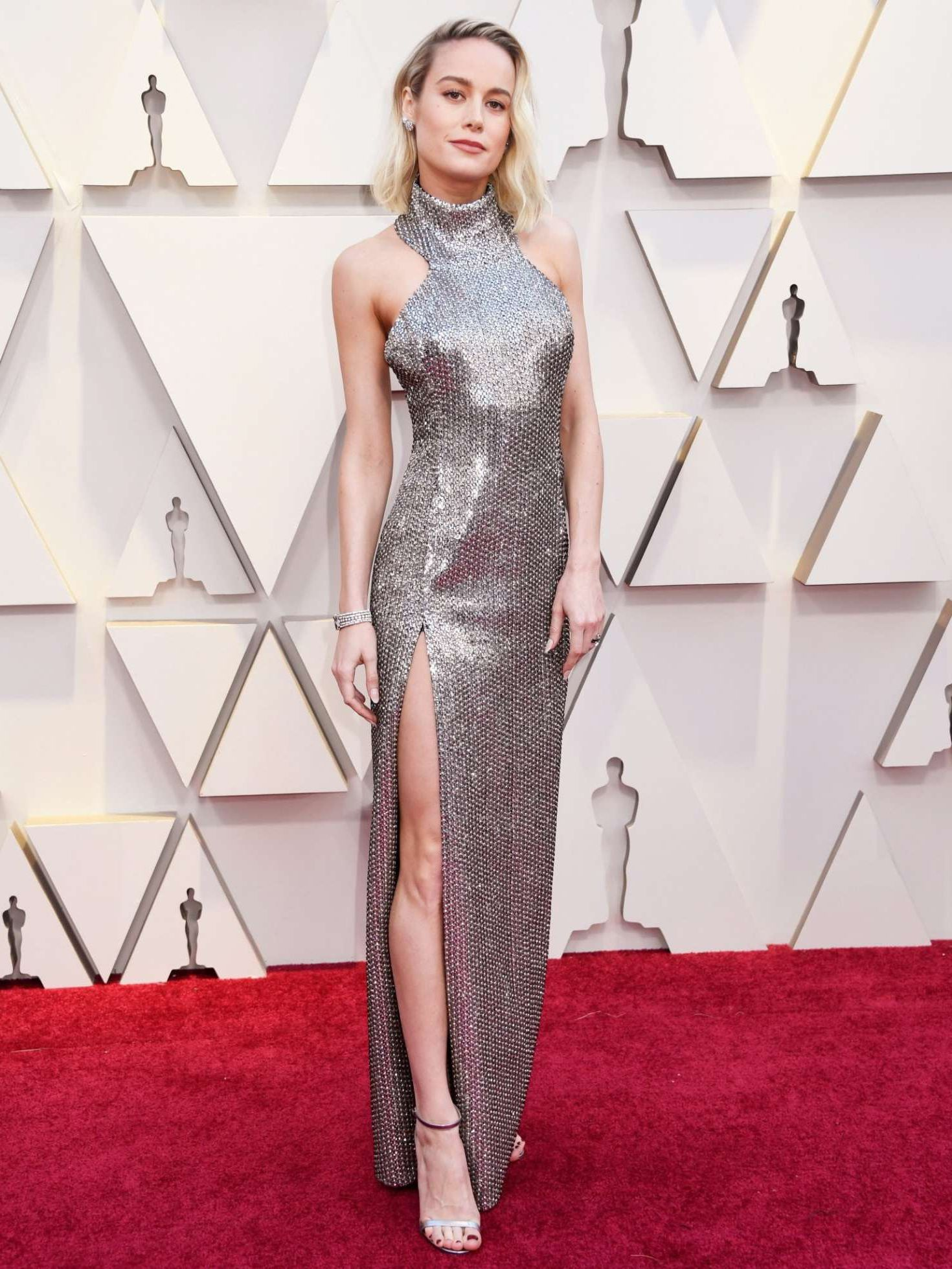 amazing actress Brie larson at the Oscars in Los Angeles, 2019
