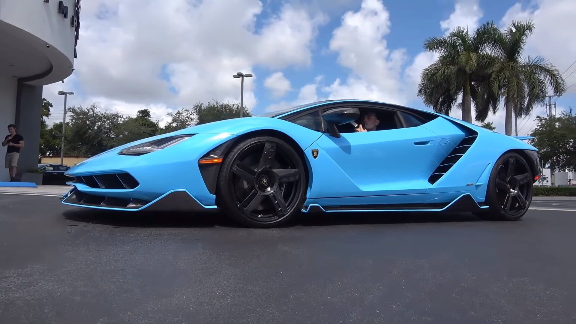 blue 2018 lamborghini centenario lp 770-4 hd background