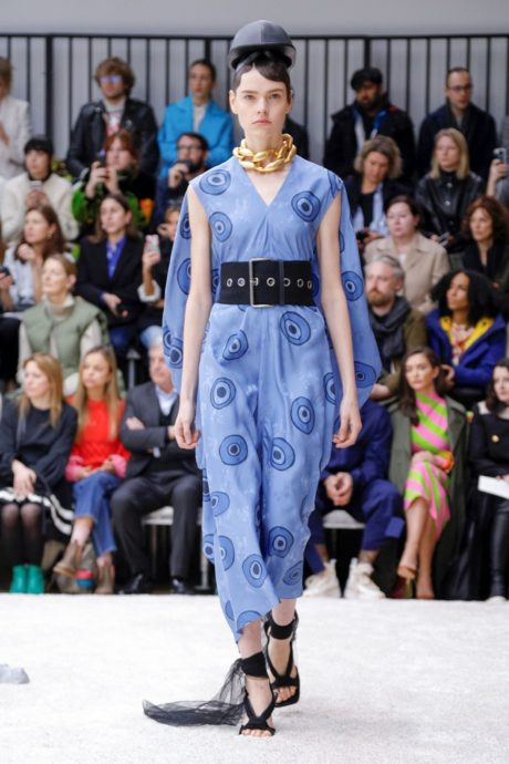 blue dress without sleeve by JW Anderson