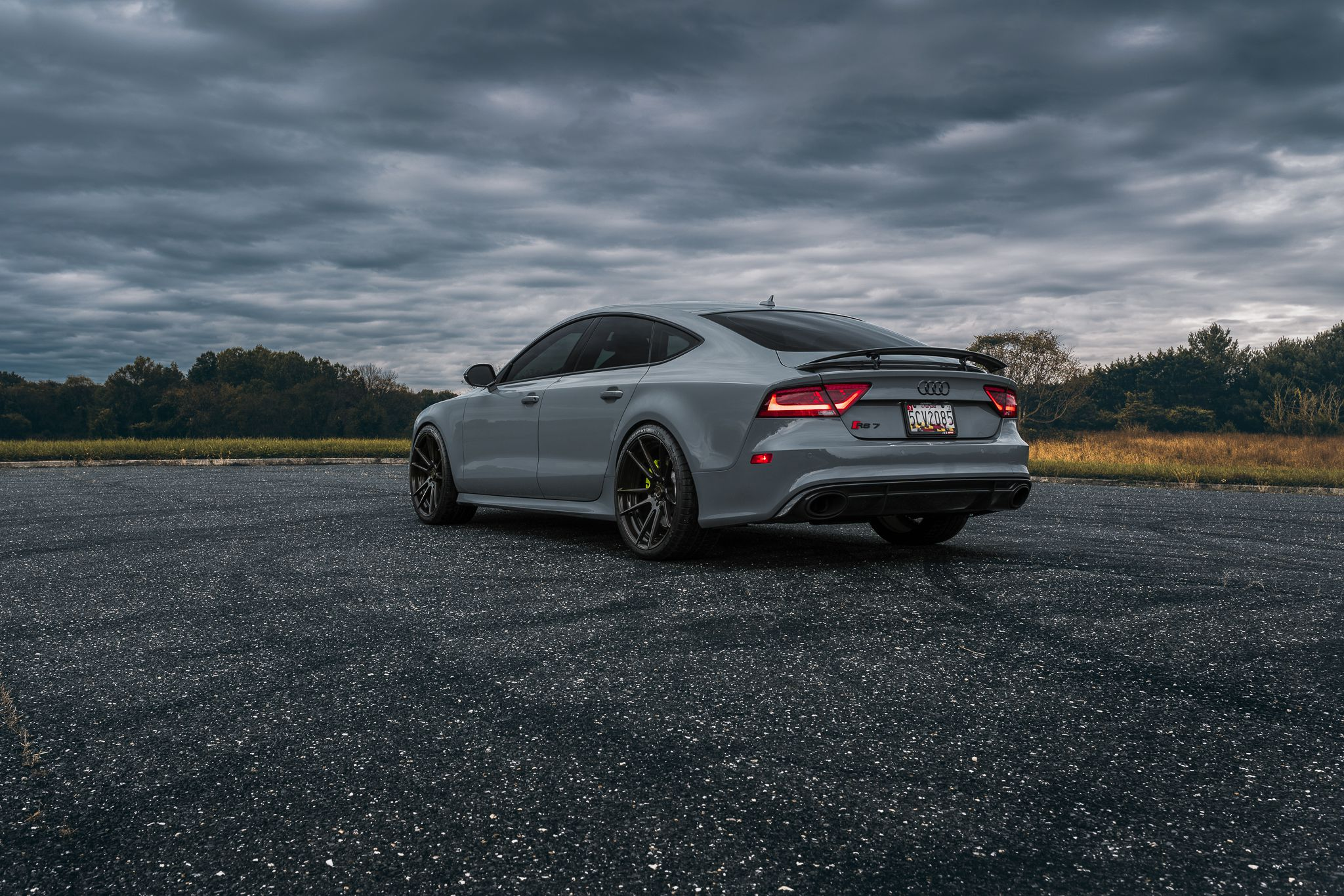 clouds, Audi RS7, sedan