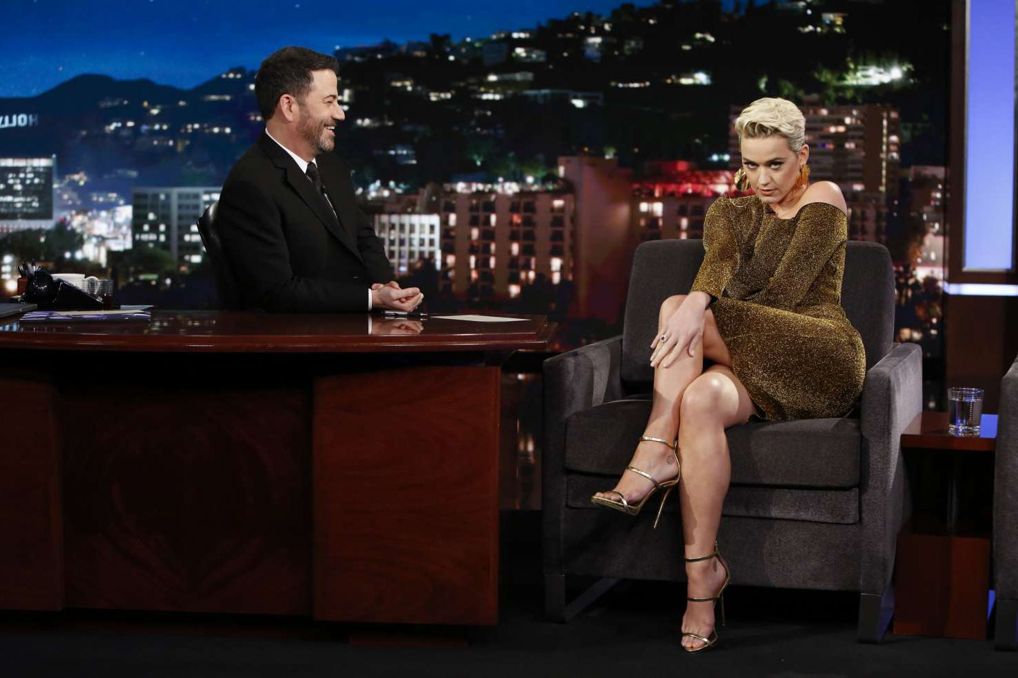 cool Katy Perry at the 'Jimmy Kimmel Live' in Los Angeles, 2019