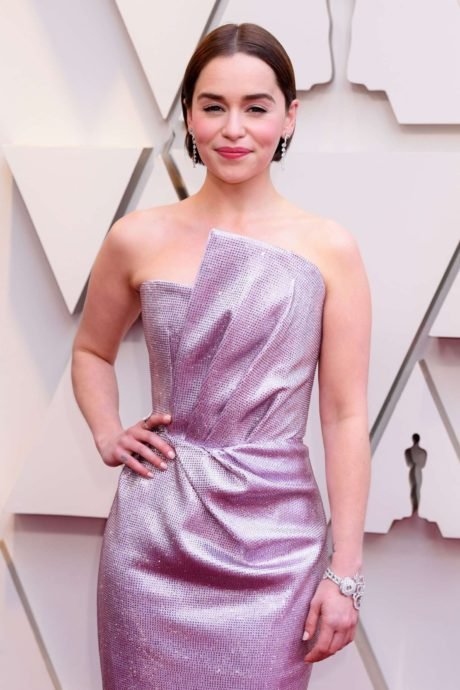 Emilia Clarke at the annual Oscars event in Los Angeles, February 2019