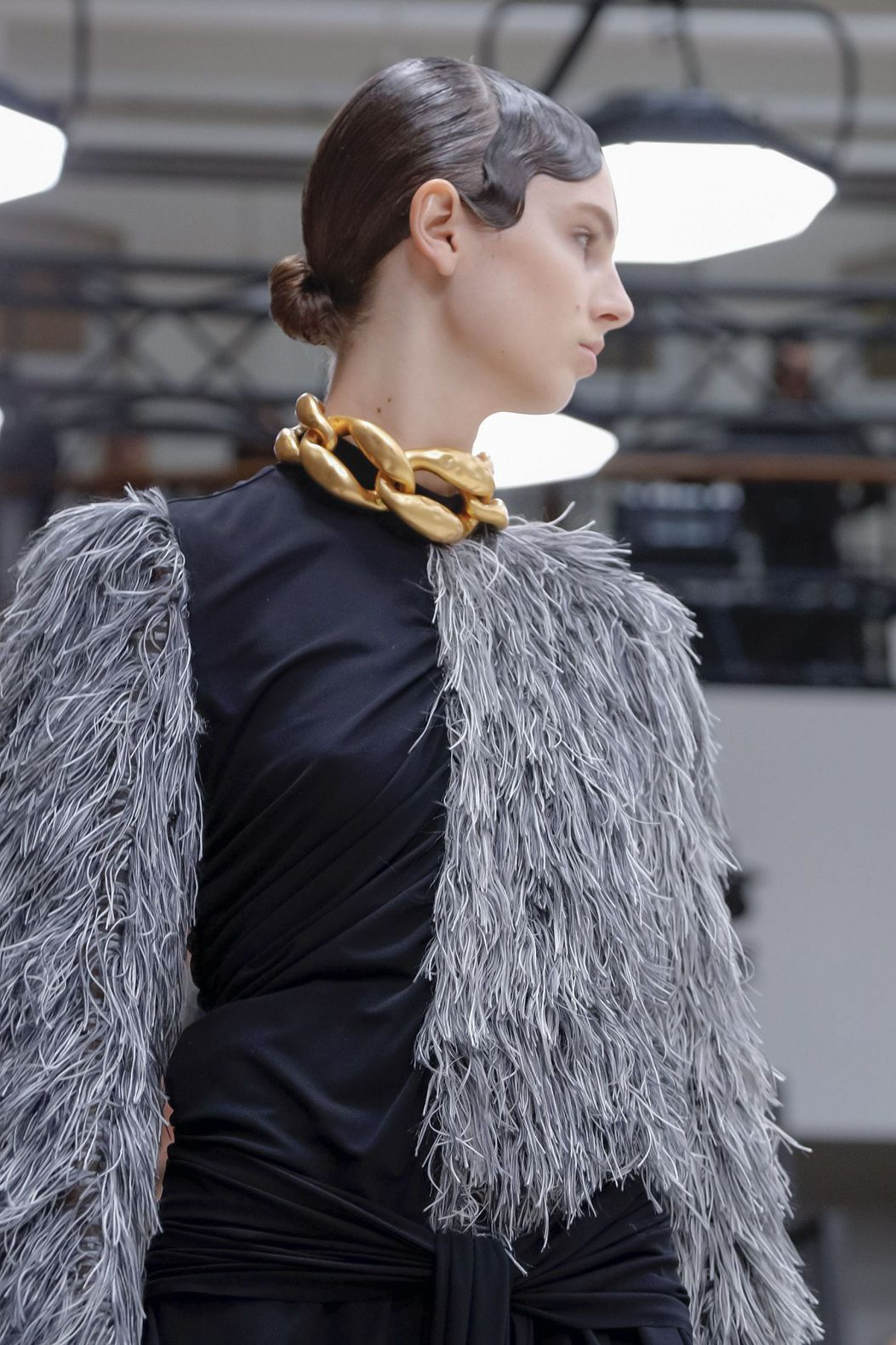 golden neckband by JW Anderson