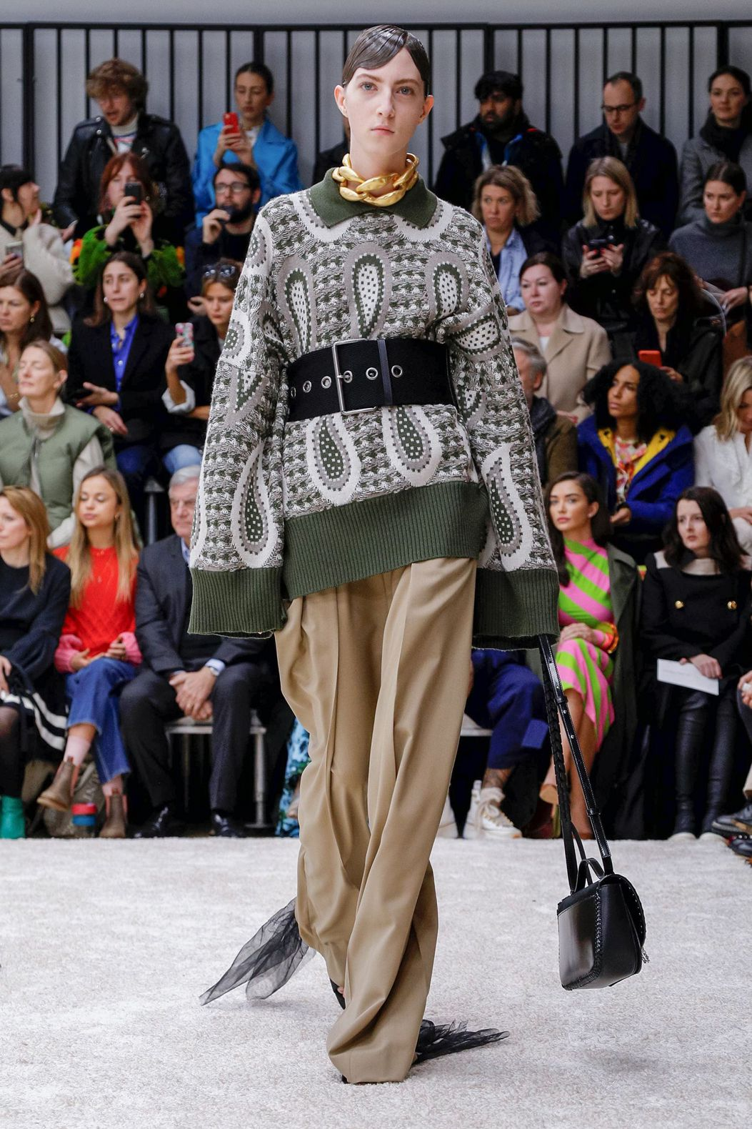 grey sweater with long sleeve by JW Anderson