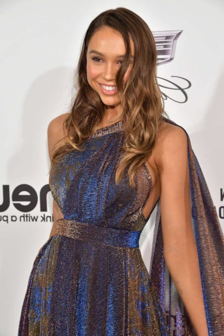 Alexis Ren at the Elton John AIDS Foundation Academy Awards in Los Angeles, February 2019