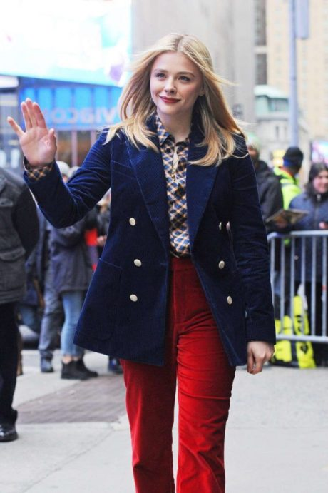 happy Chloe Moretz welcomes everyone in NYC