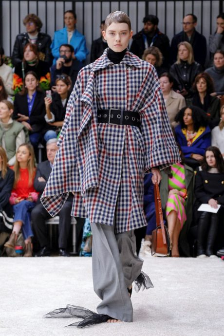 plaid coat by JW Anderson