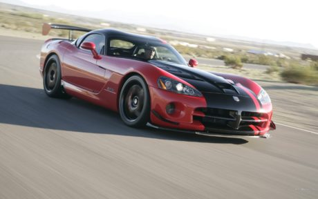 red Dodge Viper with black stripe