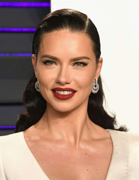 smiles Adriana Lima at Vanity Fair Oscar Party