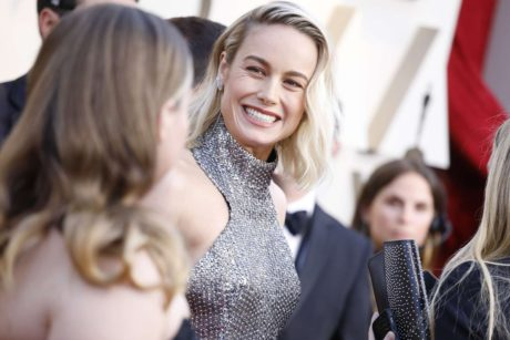 smiles Brie larson at the Oscars in Los Angeles, 2019