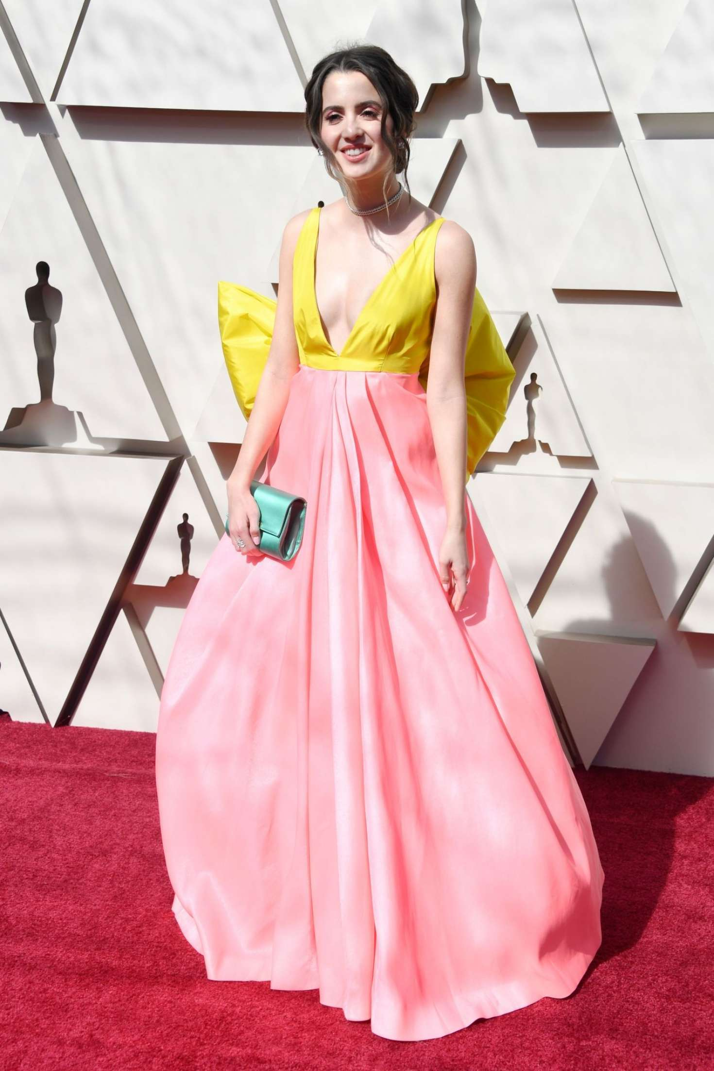 smiles Laura Marano at the Oscars in Los Angeles, 2019
