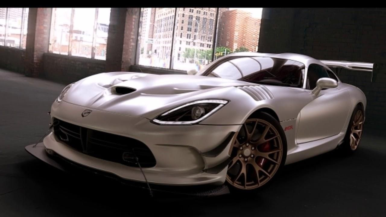 white Dodge Viper ACR