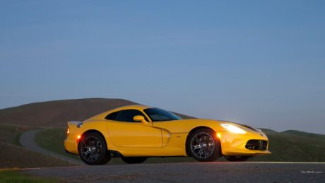 yellow Dodge Viper SRT