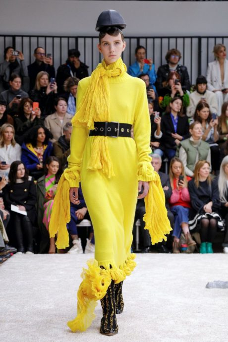 yellow long dress by JW Anderson