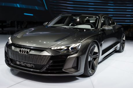 Audi e-tron GT concept at Geneva International Auto Show in Switzerland, 2019