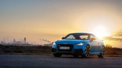 2019 Audi TT RS Coupé at sunset background