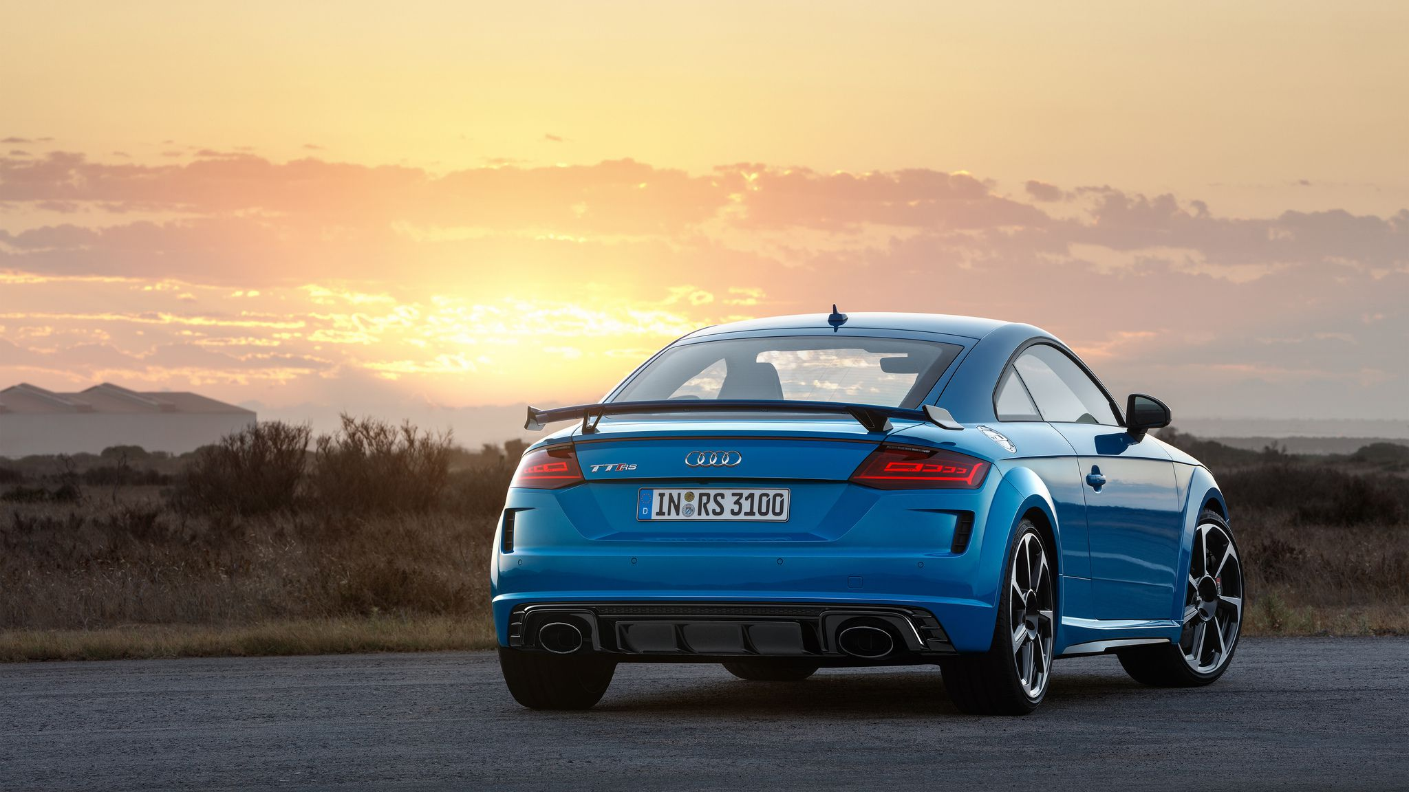 2019 Audi TT RS Coupé - rear view at sunset