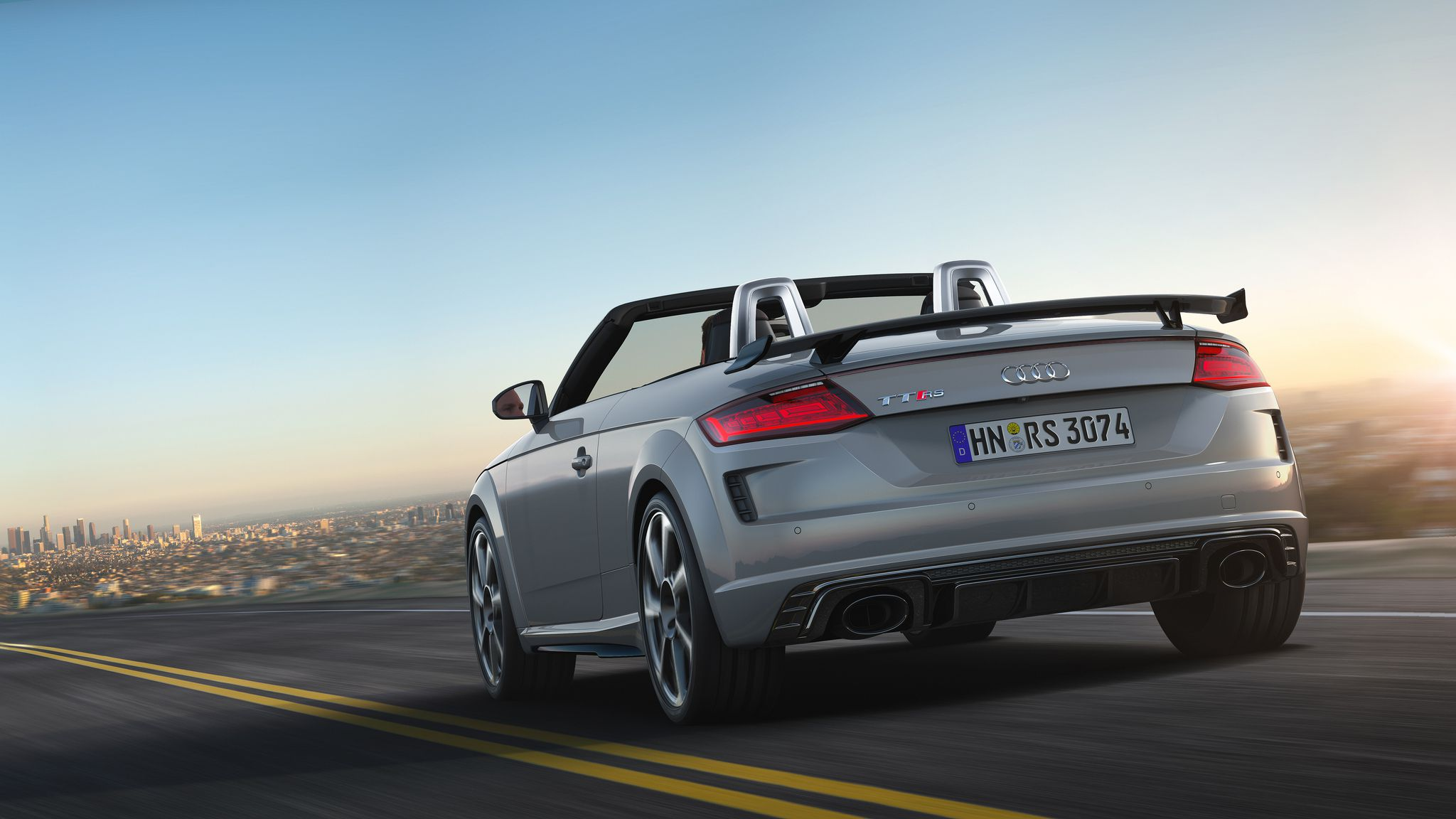 2019 Audi TT RS Roadster - tail view, in motion