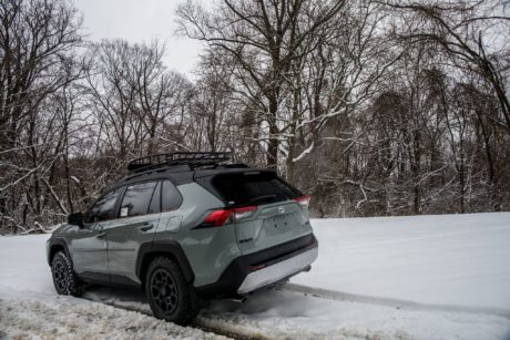 2019 Toyota RAV4 at winter offroad