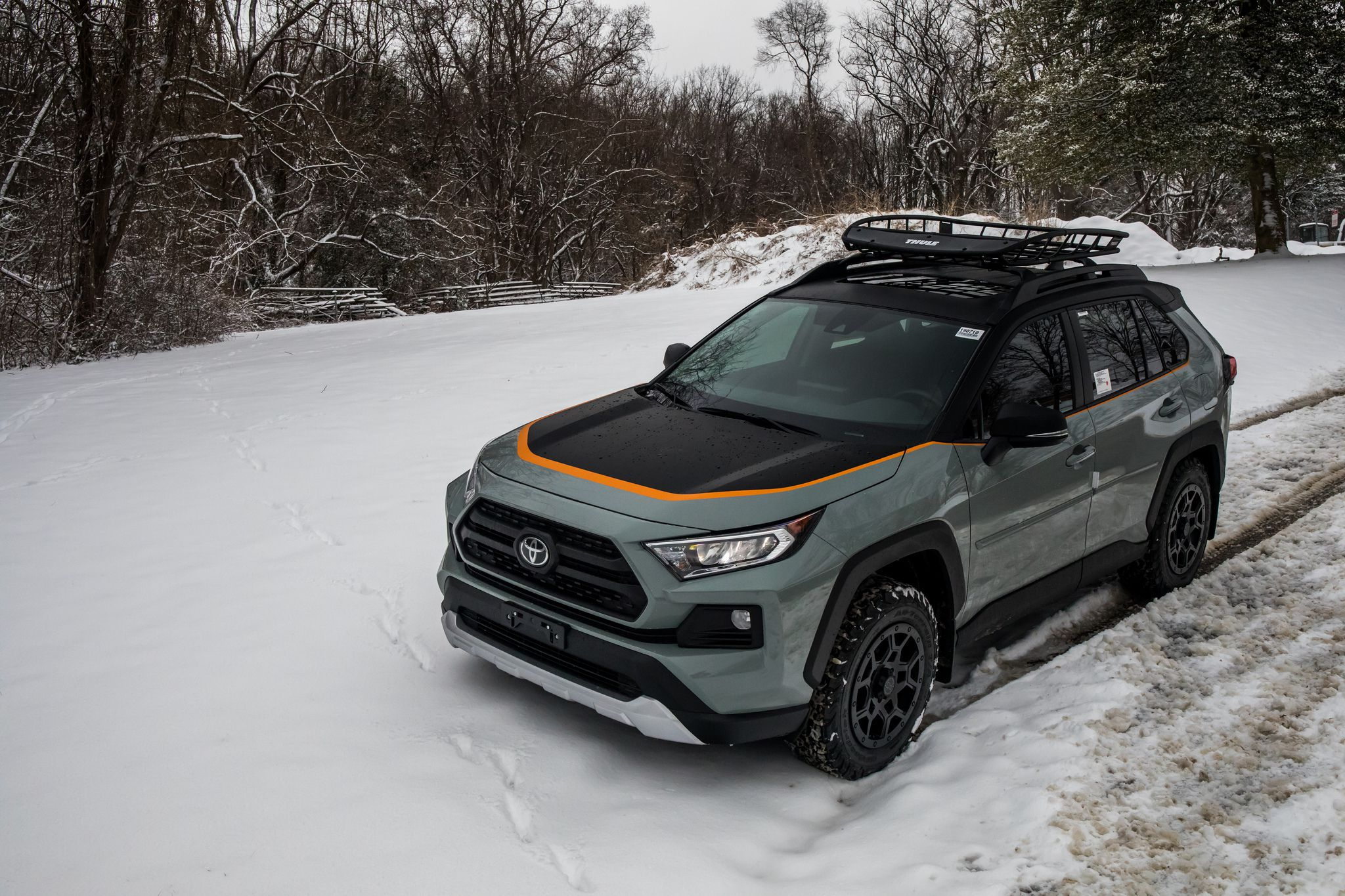 2019 Toyota RAV4 in winter