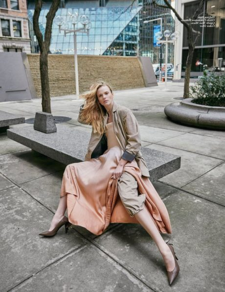Anne Vyalitsyna sits on granite table