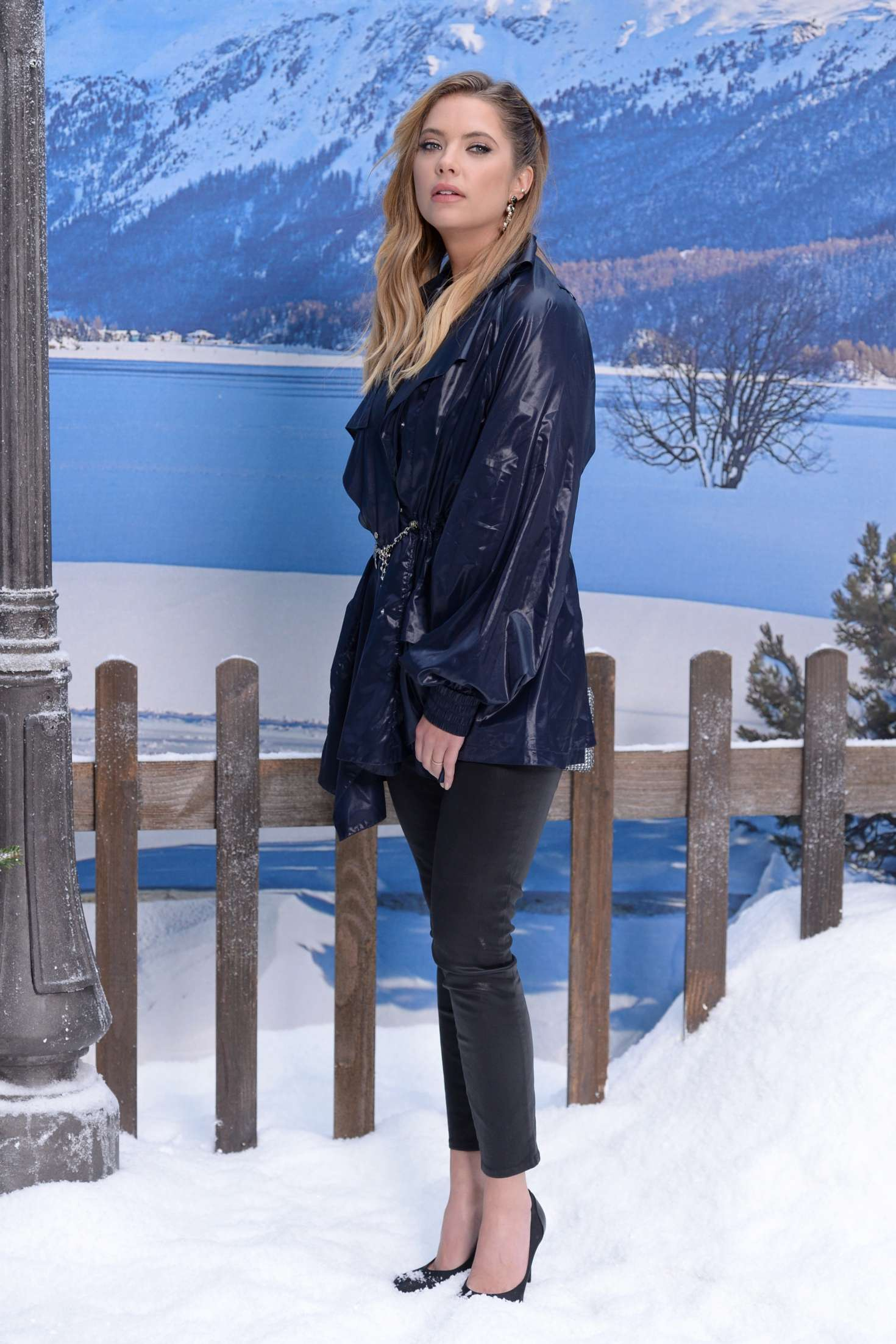 Ashley Benson in full height at the Chanel Fashion Show, 2019