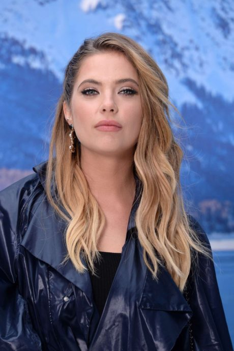 Ashley Benson with new hairstyle at the Chanel Fashion Show, 2019