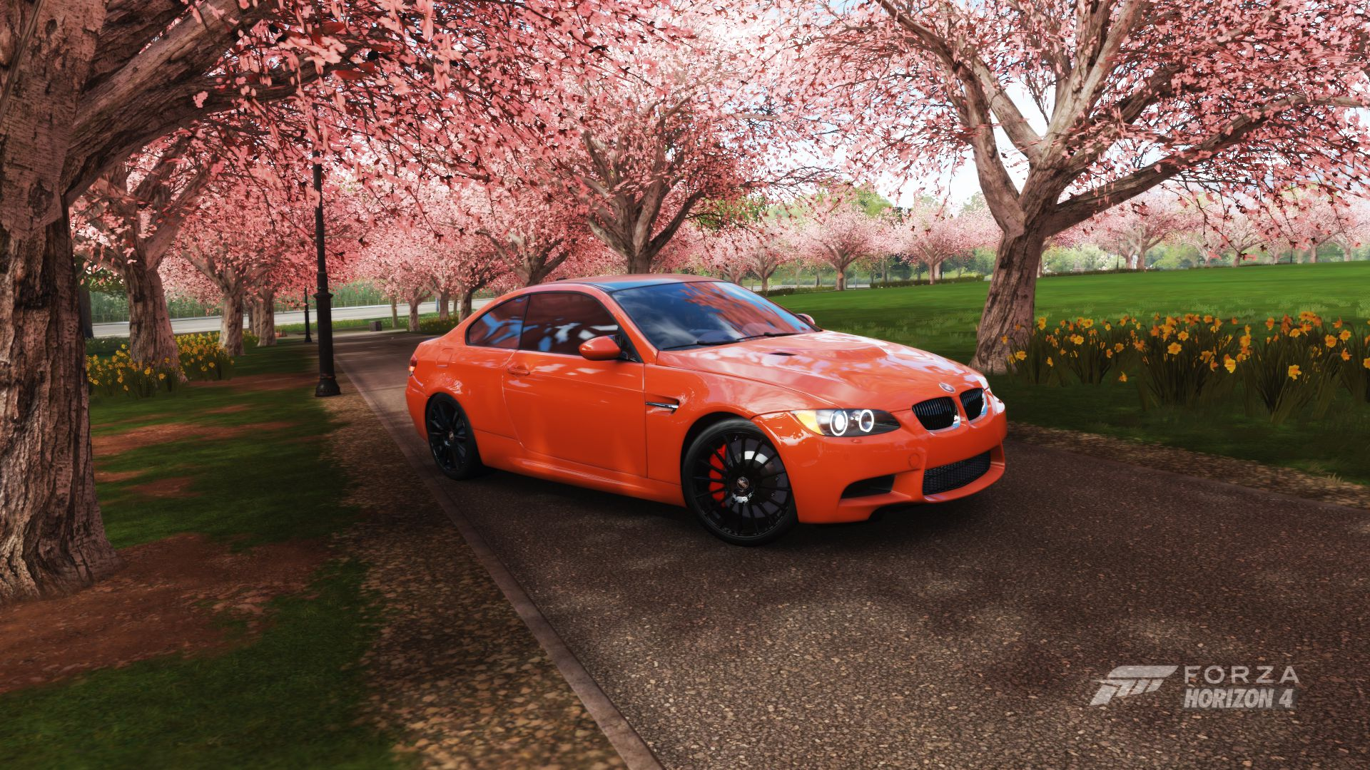 BMW M3 E90 - 2012 model in red colour, from Forza Horizon 4