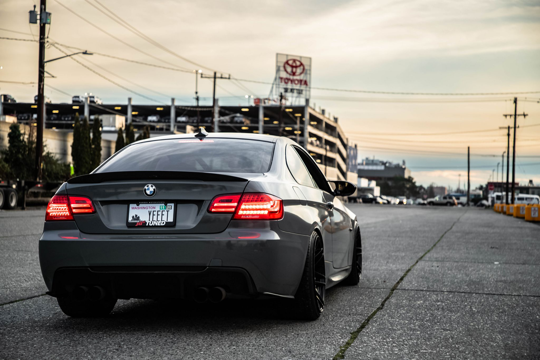 BMW M3 E90 - black colour, turned taillights