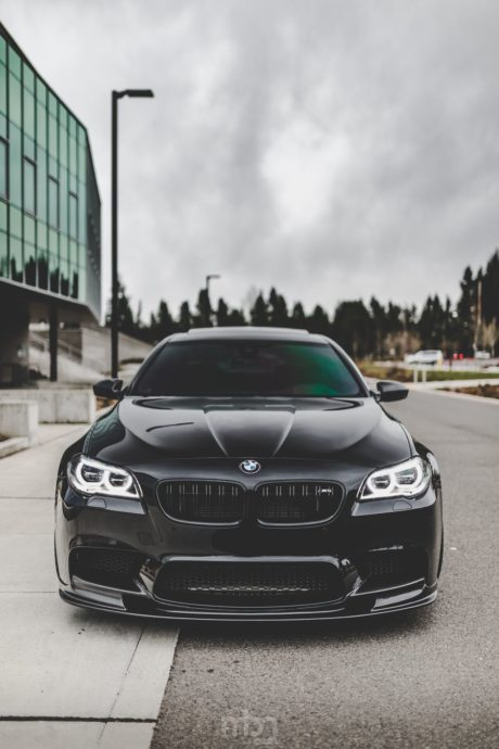 BMW M5 front view