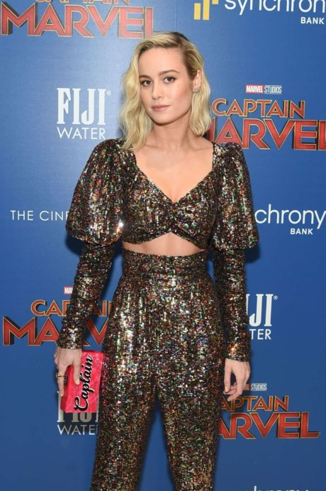 Brie Larson actress at the 'Captain Marvel' Premiere, 2019