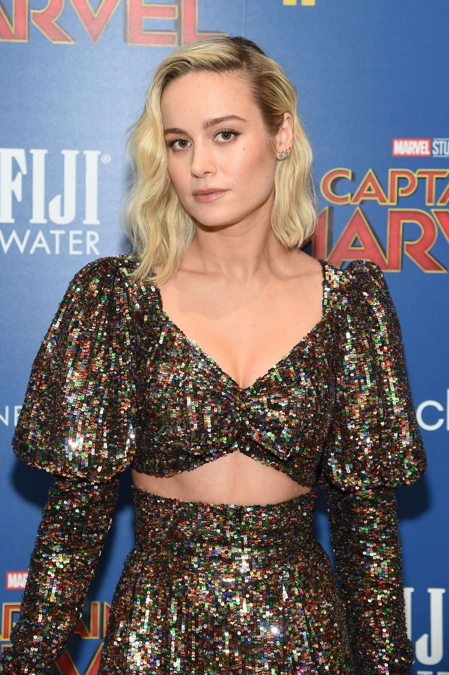 Brie Larson, blonde actress at the 'Captain Marvel' Premiere, 2019