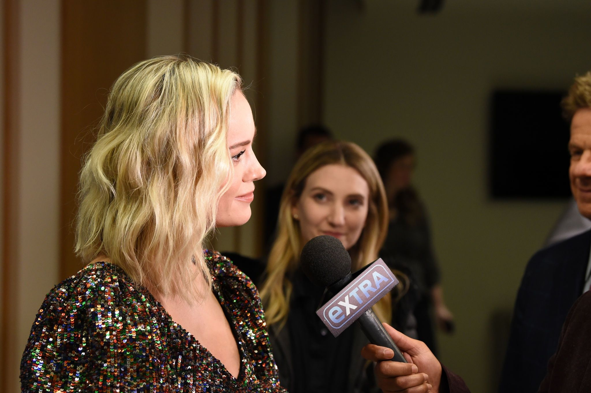 Brie Larson with new hairstyle at the 'Captain Marvel' Premiere, 2019