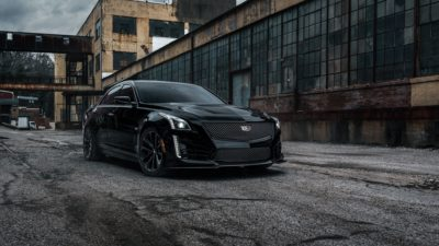 Cadillac CTS-V, amazing sedan, custom wheels